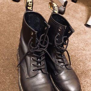 Dr Martens 1460 Nappa Boots (Black, womens 8)